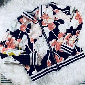 BB Dakota Floral Bomber Jacket